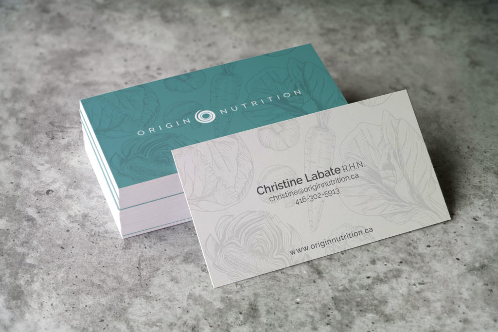 Origin Nutrition Business Cards